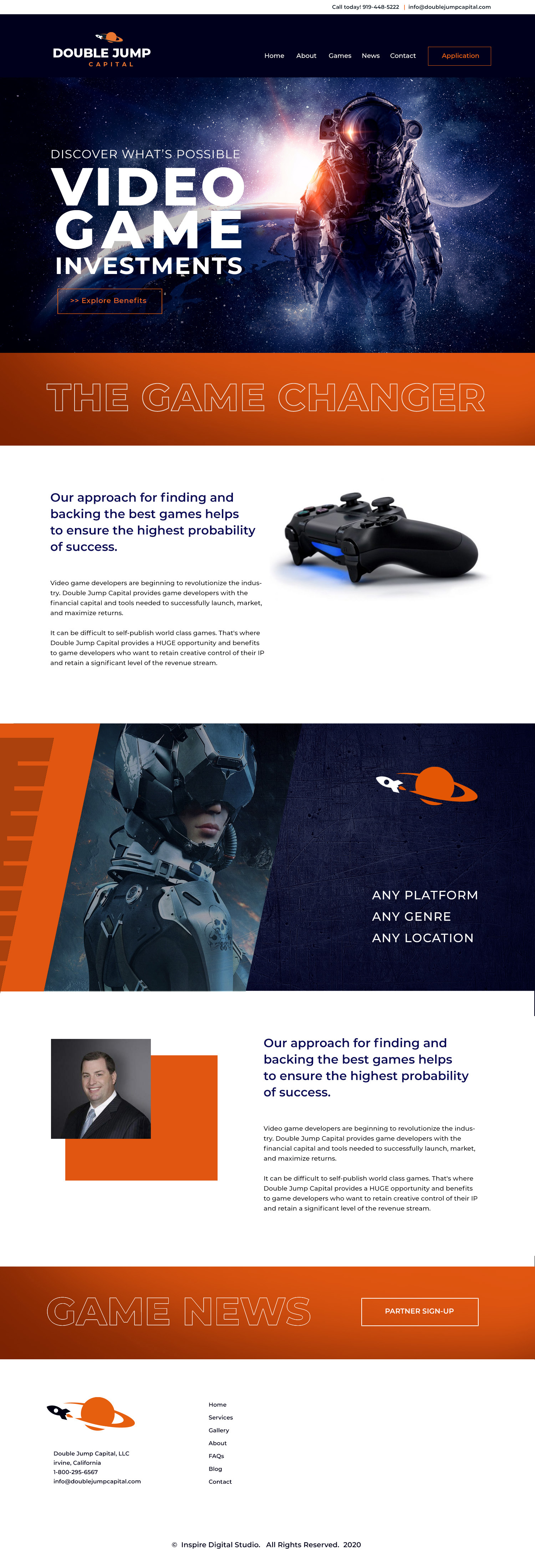 Orange County Brand Agency - Website Design - UI/UX Design